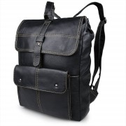 Delton Bags Sac à dos multifonctions en cuir noir