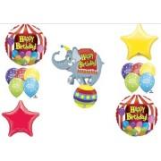 Circus Elephant Big Top Birthday Party Balloons Decorations Stars Tent Balloon