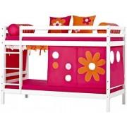 Hoppekids Våningssäng 90x200 cm - Hoppekids Flower Power Säng 102405