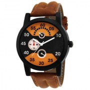 MF New Design Popular Brown Leather Strap Kids And Boys Watch