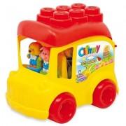 Clemmy - Autobuz Scolar Cu 12 Cuburi Clementoni