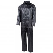 MFH Costum impermeabil XL cu gluga Negru 08301A