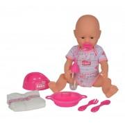 Papusa bebelus nou nascut cu functii si accesorii - New Born baby 38 cm