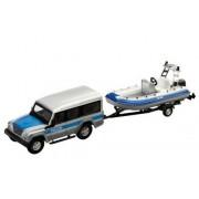 Macheta Iveco Masif cu barca de interventie Polizei