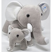 Elephant Stuffed Animals Super Soft Plush Mother Baby Elephants Toy Set by Exceptional Home Zoo