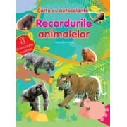 Carte cu autocolante. Recordurile animalelor.