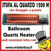 STUFA AL QUARZO DA PARETE 1200 W MAX
