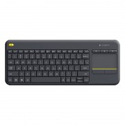 Logitech K400 plus 2 4 GHz draadloze Touch Control toetsenbord draadloze bereik: 10m (zwart)