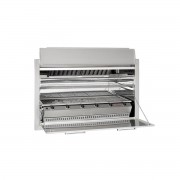 Chad-O-Chef Entertainer - 6 burner Built-in Natural Draught with Warmer Tray