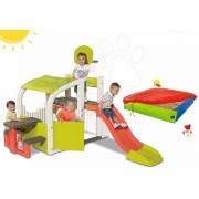 Smoby Set centru de joacă Fun Center și BIG nisip cu prelată 310059-15