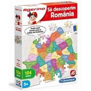 Agerino - Puzzle educativ Sa descoperim Romania, 104 piese