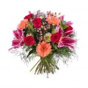 Ramo de rosas con Liliums - Flores a Domicilio