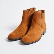 Klöm Chelsea Boots Martin en Velours de Cuir cognacs