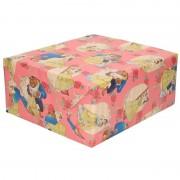 Disney Inpakpapier/cadeaupapier Disney Belle en het Beest roze 200x70 c