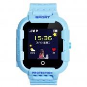 Ceas Inteligent pentru copii WONLEX KT03 Albastru cu GPS rezistent la apa localizare WiFI si monitorizare spion