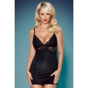 Black Amour szett - hálóing és női alsó fekete LXL