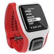 Ceas Sport Smart Watch TomTom Multi-Sport Cardio GPS (Alb cu Rosu)