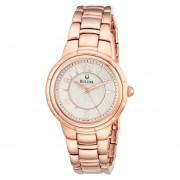 Reloj Bulova 97l132 Para Mujer-Dorado