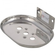 Fortune Premium Stainless Steel Oval Single Soap Dish / Soap Holder / Soap Stand