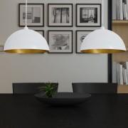 vidaXL Stropná lampa 2 ks, nastaviteľná výška, pologuľa, biela