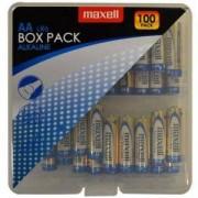 Алкални батерии MAXELL LR6 AA, 100 броя в PVC кутия, ML-BA-LR6-100PK-PVC