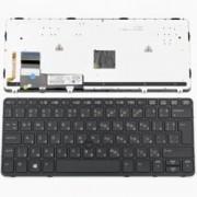 Клавиатура за HP EliteBook 820 G1, US, с рамка, с подсветка, кирилица, черна