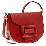 The Bridge Borsa Donna Media a Tracolla in Pelle Rossa linea Gorgona