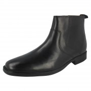Clarks Mens Clarks Ankle Boots Tilden Zip Black UK 6