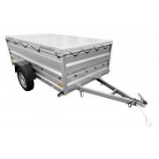 Přívěs do auta 236 x 125 zahradní přívěs max do 750 KG vozík za auto