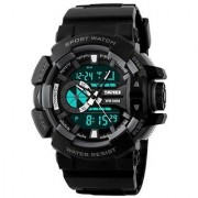 Black-Gray Silicon Analog-Digital Sports Watch for Men