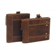 Skinnplånbok för Herr Brun Plånbok i Läder
