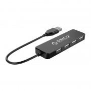 I/O, HUB 4 PORT, Orico USB2.0, 4 port Black (FL01-BK-BP)