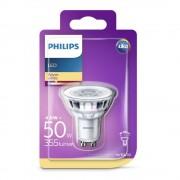 Bec spot LED Philips 4.6W (50W), GU10, lumina calda 2700K