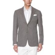【30%OFF】Classic Model シルク混 ノッチドラペル テーラードジャケット ブラウン 50 ファッション > メンズウエア~~ジャケット