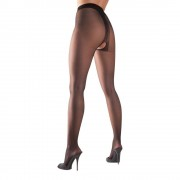 Cottelli Collection Crotchless Tights black L