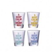 Copos de Tequila Shot Keep Calm and Drink All