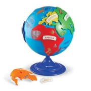 Globul pamantesc pentru copii Puzzle Globe - Puzzle interactiv - Learning Resources