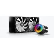 "COOLER DeepCool CPU universal. cu LICHID. soc LGA20xx/1366/115x & TR4/AMx/FMx, AL+Cu+lichid ALTI, 2x CF120 A-RGB fans, 150W, ""CASTLE 240 RGB v2"""