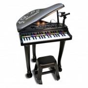 Bontempi Grand Pian electronic cu scaun, microfon si 37 clape 104000