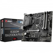 Matična ploča MSI Gaming B360M BAZOOKA PLUS mATX Baza Intel® 1151 Faktor oblika Micro-ATX Set čipova matične ploče Intel
