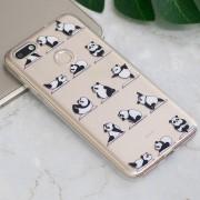 Panda Yoga En Relieve Patrón TPU Caso Para Huawei Disfrutar Aceite 7 / Y6 Pro (2017)