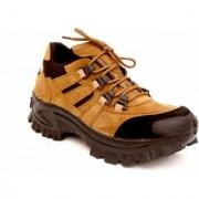 Lee Peeter Men's Brown Leather Outdoor Shoes