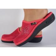 Papuci de casa roz din plus dama/dame/femei (cod 17-148)