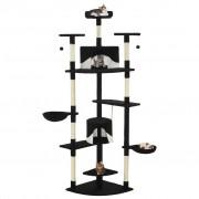 vidaXL Penjalica za mačke sa stupovima za grebanje od sisala 203 cm crna i bijela