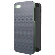 Carcasa LEITZ Complete Retro Chic, pentru iPhone 5/5S - gri/verde