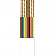 Rola cablu plat pentru telefon, 100 m, 8 fire, Alb
