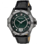 Seiko Analog Green Round Women's Watch-SUR805P1