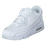 Nike Boys' Air Max 90 Leather (ps) White/white, Shoes, vit, EU 31,5