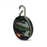 JBL Clip 3 Squad - водоустойчив безжичен портативен спийкър (с карабинер) с микрофон за мобилни устройства (камуфлаж)