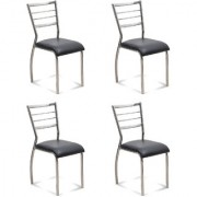 Fabsy Interior - Classy Stainless Steel Chair In Black By Fabsy Interiors (Set Of 4 Pcs.)